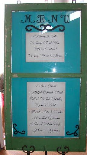 bridal brunch shower-menu