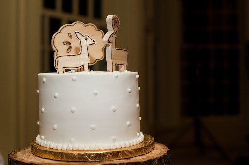 wood cake topper-see