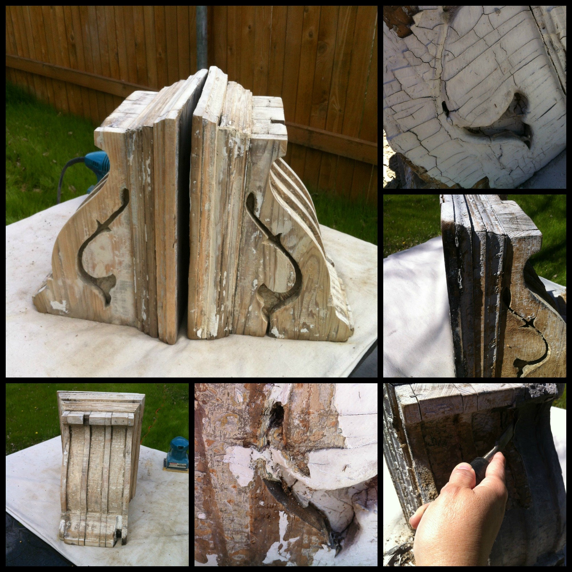 revamped corbels-chipping