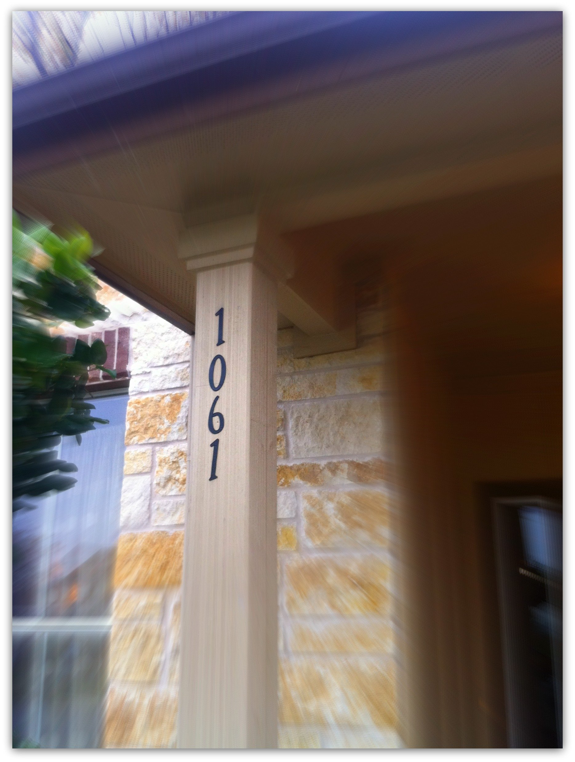 address plaque diy-numbers