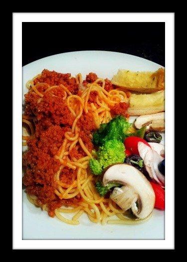 fresh garlic & press for that's italian-spaghetti