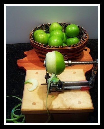 the apple experiment-peel-core-slice