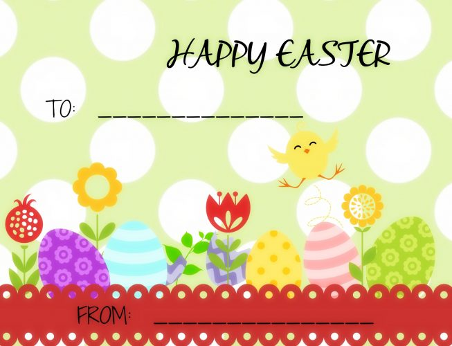 Easter tags- free printable-template