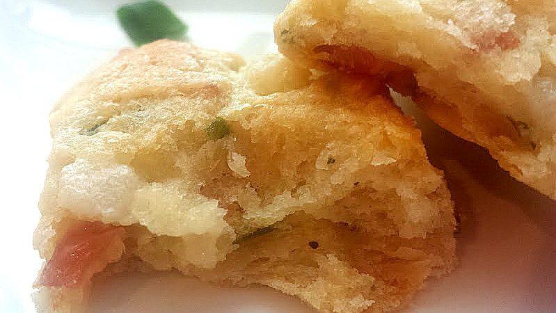 prosciutto pear scones