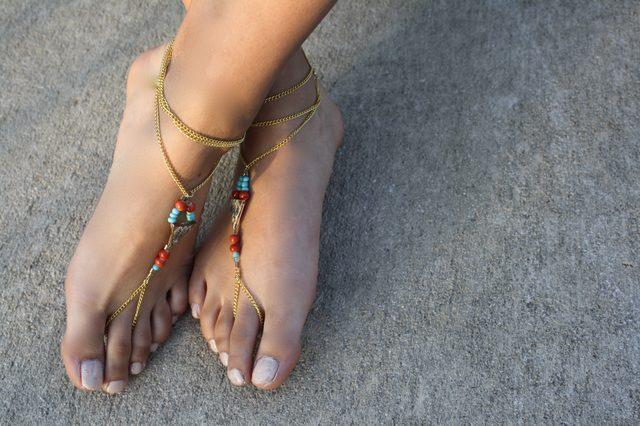Spring sandals & foot scrubs-barefeet