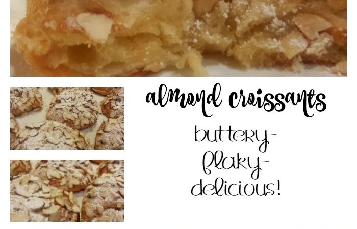 almond croissants…closest thing to a french bakery