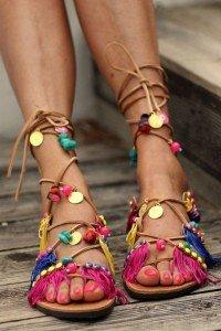 bohemian footwear