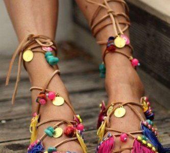Spring sandals & foot scrubs