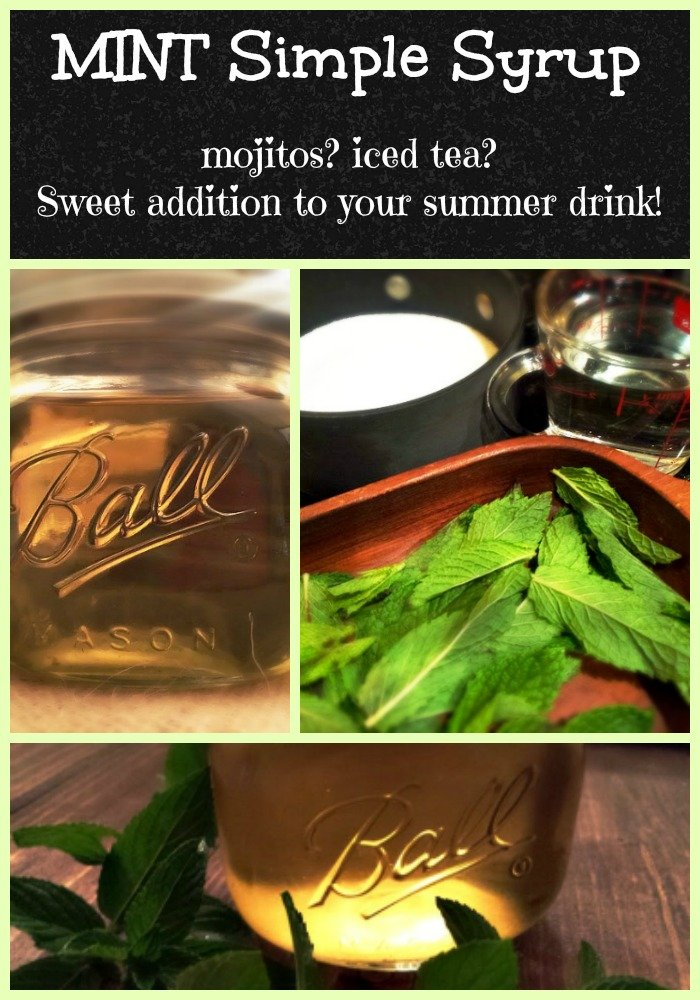 mint simple syrup so easy and the most refreshing addition to any drink