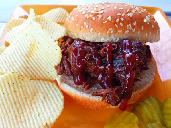 Shredded Beef BBQ-plated