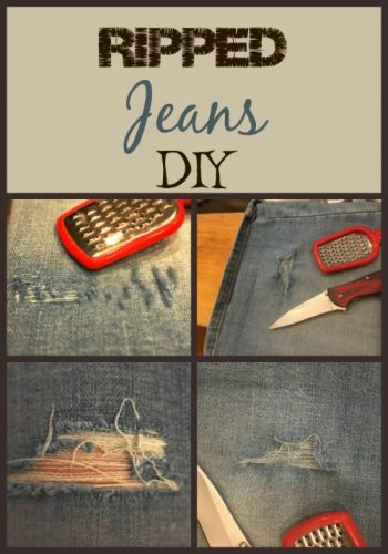 ripped jeans diy