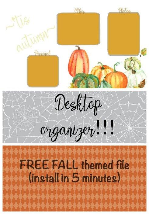 fall desktop organizer