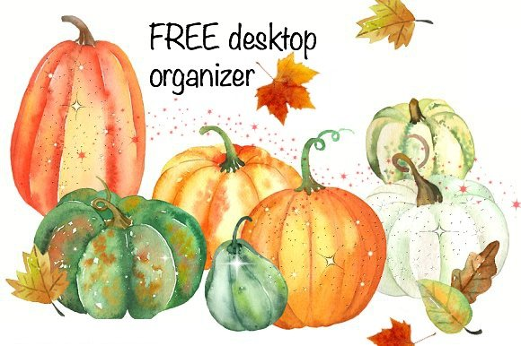 fall desktop organizer