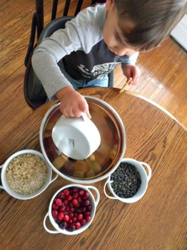 Winter feathery & furry food craft-kid-friendly-diy