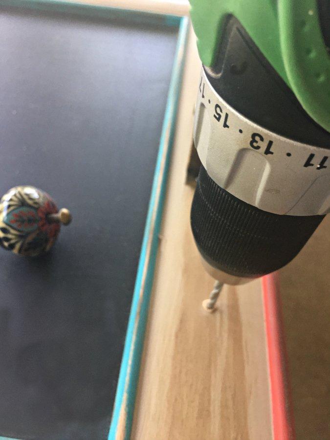How To Make A Menu Chalkboard-drilling