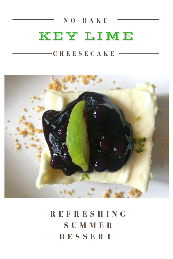 Refreshing Summer Dessert (key lime cheesecake)-pin