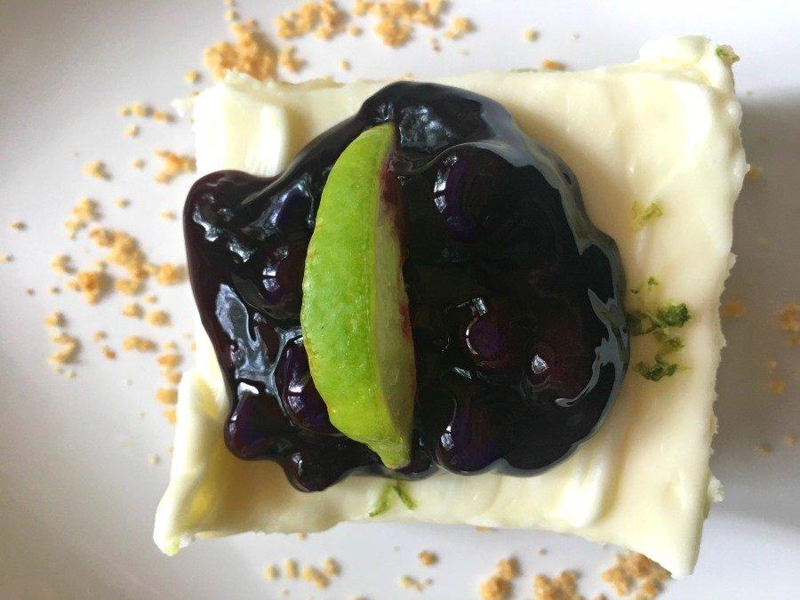 Refreshing Summer Dessert (key lime cheesecake)-over