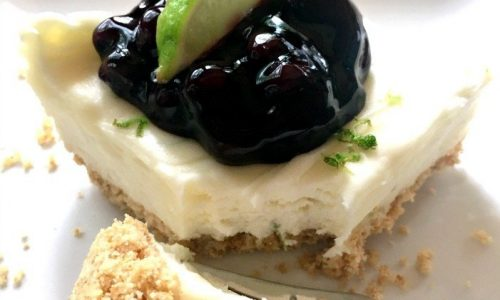 Refreshing Summer Dessert (key lime cheesecake)