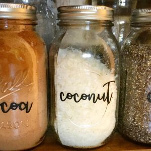 Cute font pantry labels- let's get organized
