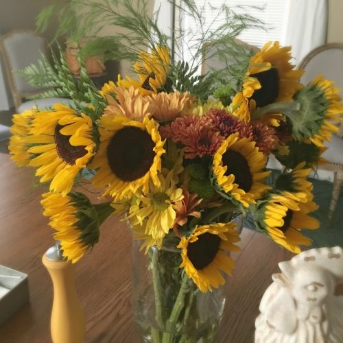Ribbon cutting & Open House-gullycreekcottage-sunflowers