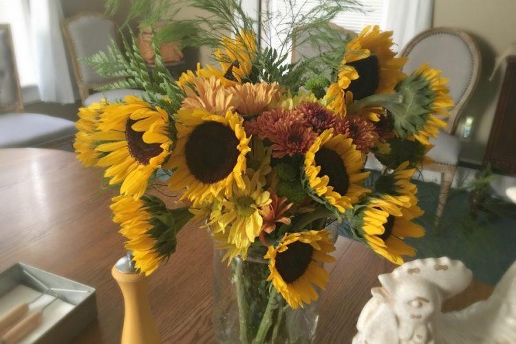 Ribbon cutting & Open House-gullycreekcottage-sunflowers