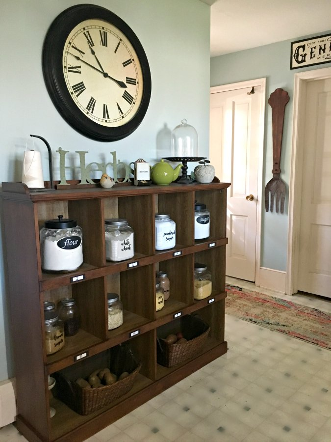 kitchen reveal: smart budget improvements with awesome lighting-gullycreekcottage-organized