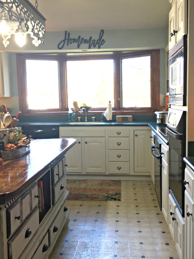 kitchen reveal: smart budget improvements with awesome lighting-gullycreekcottage-homemade