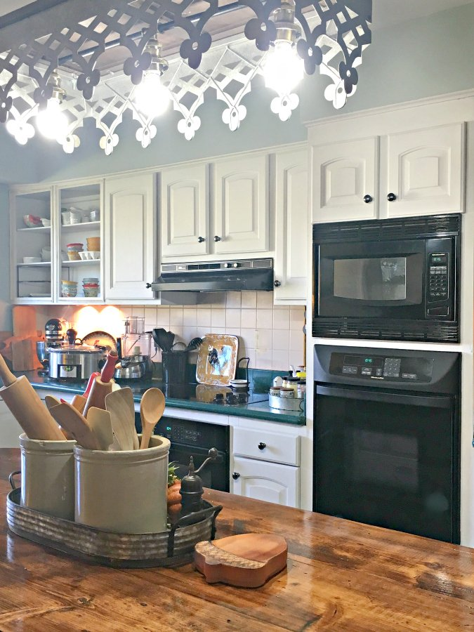 kitchen reveal: smart budget improvements with awesome lighting-gullycreekcottage-above