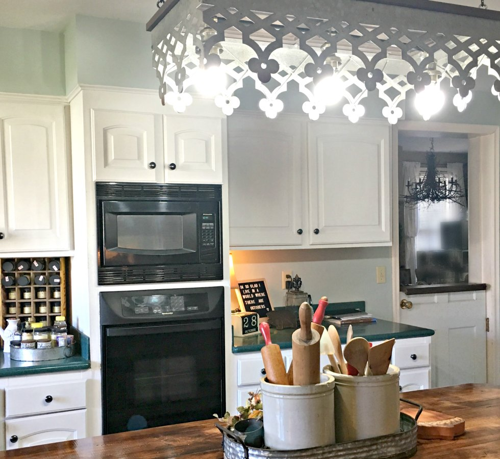 kitchen reveal: smart budget improvements with awesome lighting-gullycreekcottage-islandlite