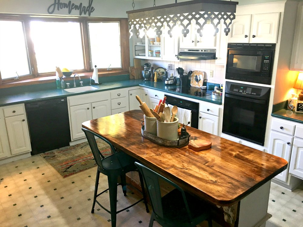 kitchen reveal: smart budget improvements with awesome lighting-gullycreekcottage-skyview