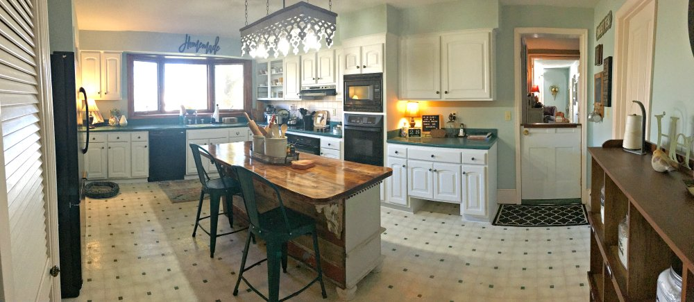 kitchen reveal: smart budget improvements with awesome lighting-gullycreekcottage-view