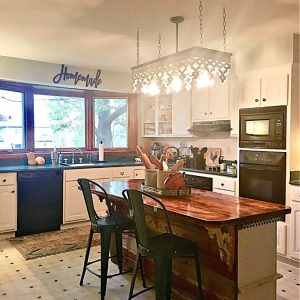 kitchen reveal: smart budget improvements with awesome lighting