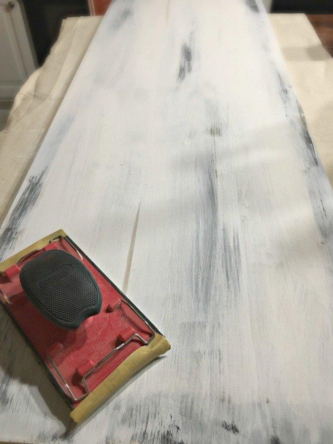 How I made a custom killer Charcuterie Board-gullycreekcottage-sanding