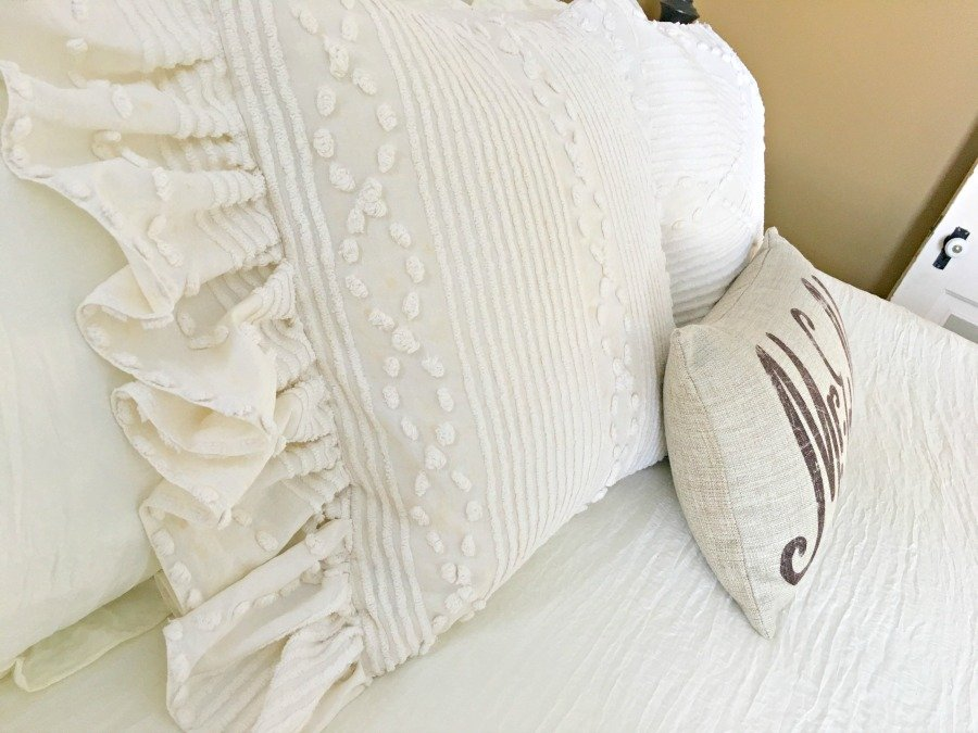 Side Ruffled French Market Pillows -gullycreekcottage-side2