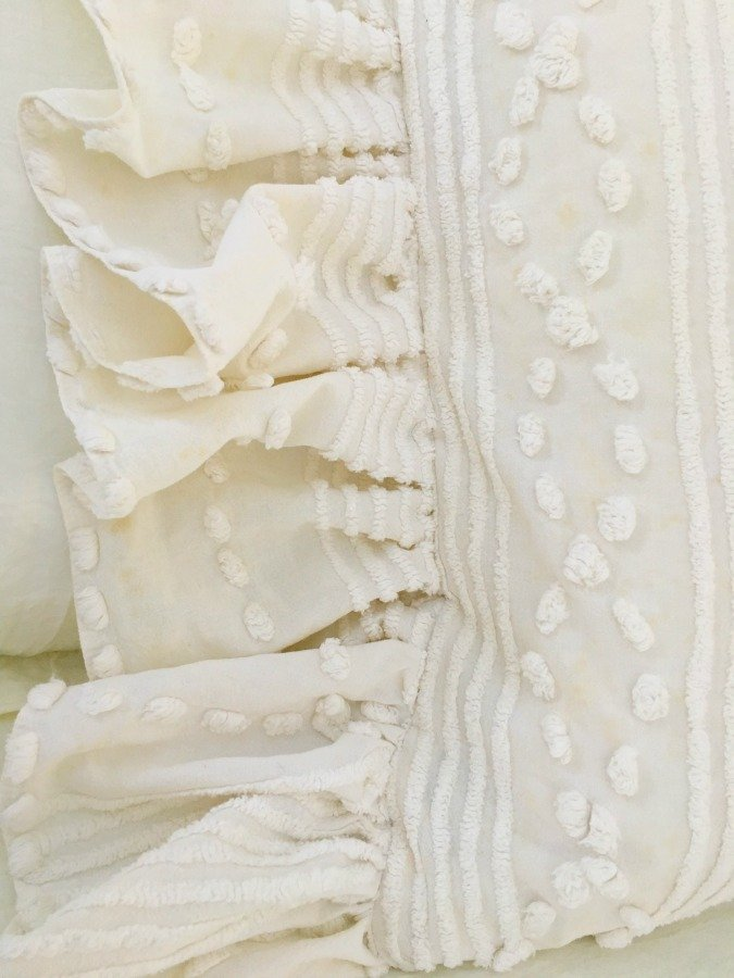Side Ruffled French Market Pillows -gullycreekcottage-chic