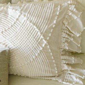 Side Ruffled French Market Pillows