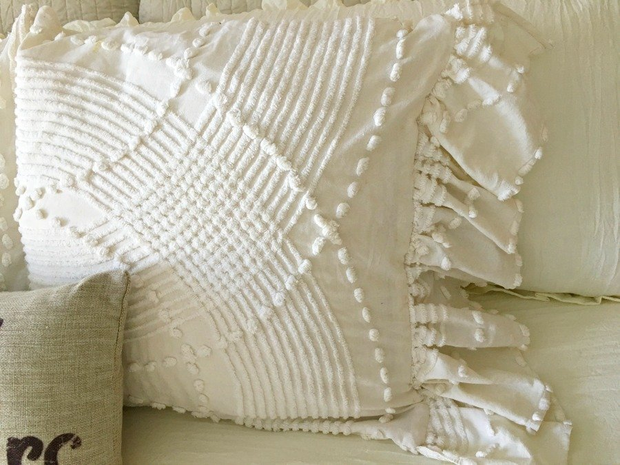 Side Ruffled French Market Pillows -gullycreekcottage-knobs