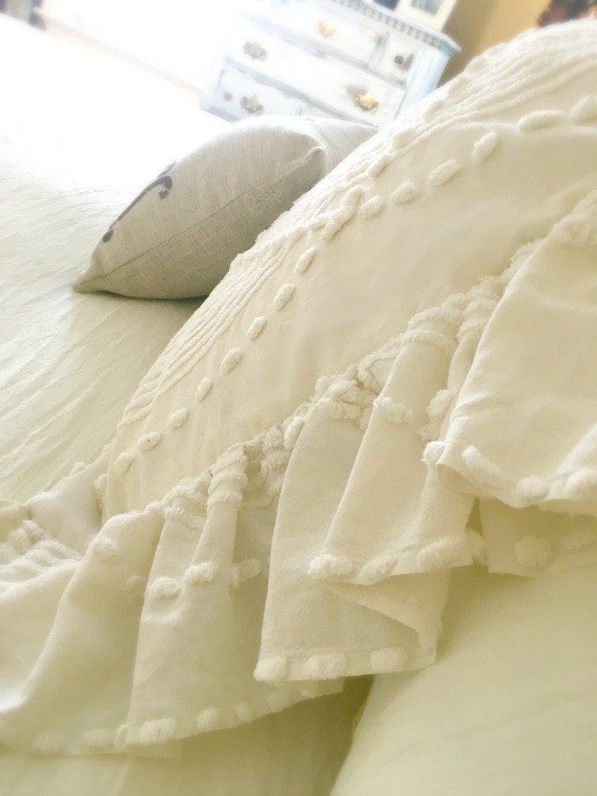 Side Ruffled French Market Pillows -gullycreekcottage-side
