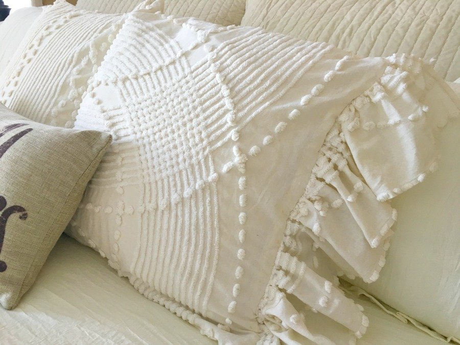 Side Ruffled French Market Pillows -gullycreekcottage-french