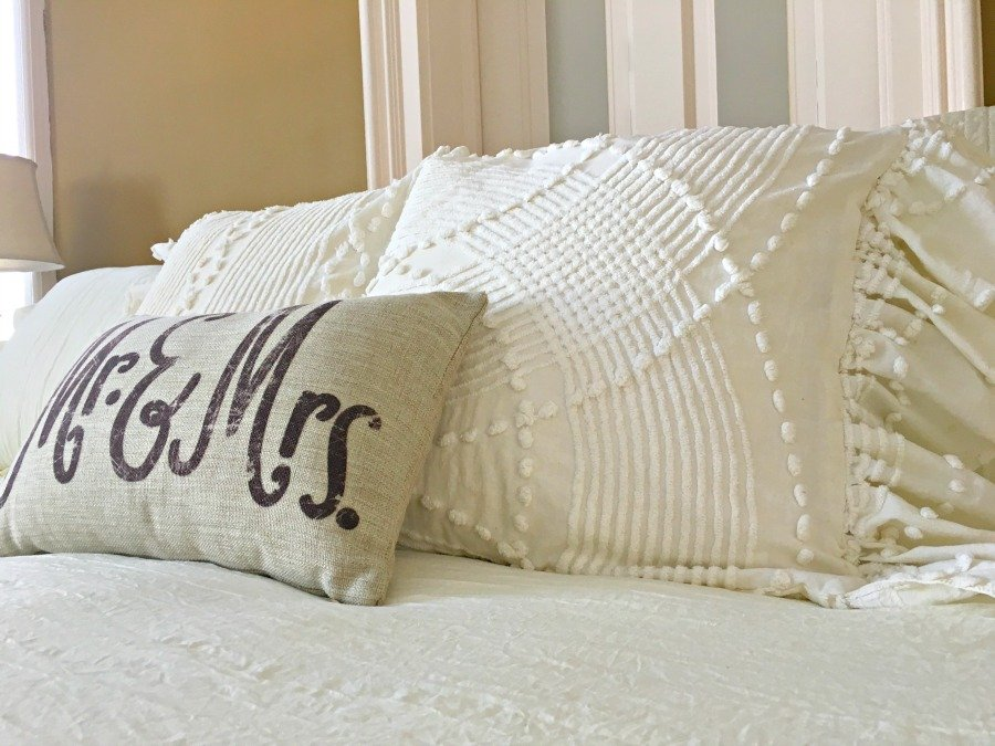 Side Ruffled French Market Pillows -gullycreekcottage-gold