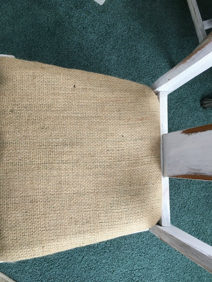 Farmhouse Style Chair Makeover-gullycreekcottage-burlap