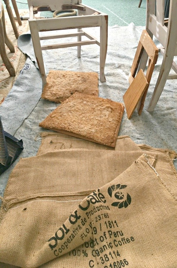 Farmhouse Style Chair Makeover-gullycreekcottage-pads