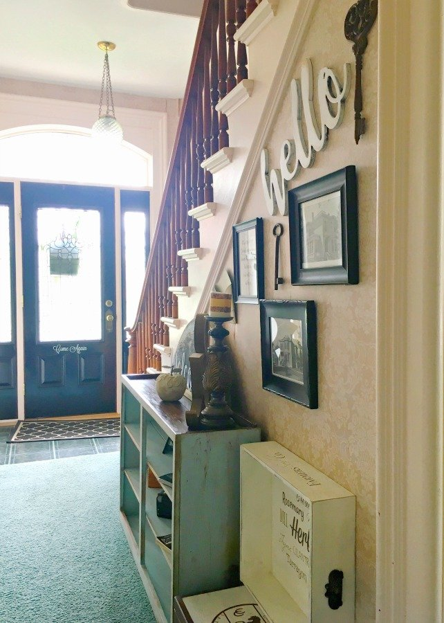 cabinet gets a makeover-gullycreekcottage-stairs