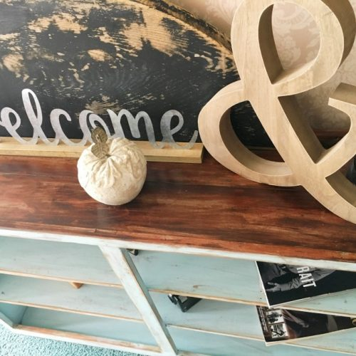 janky cabinet gets a makeover-gullycreekcottage-top