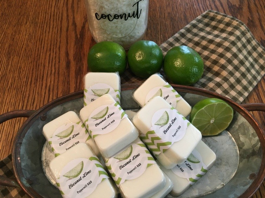 Homemade soaps from organic ingredients-gullycreekcottage-lime