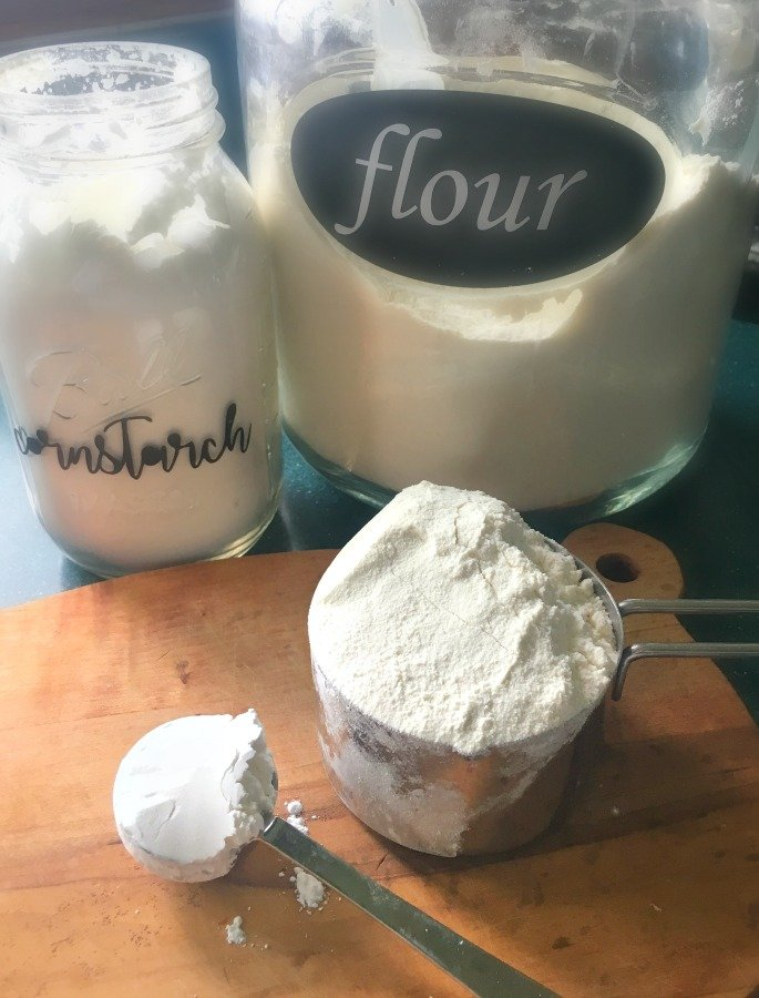 Homemade Cake Flour & how to use it-gullycreekcottage-mix