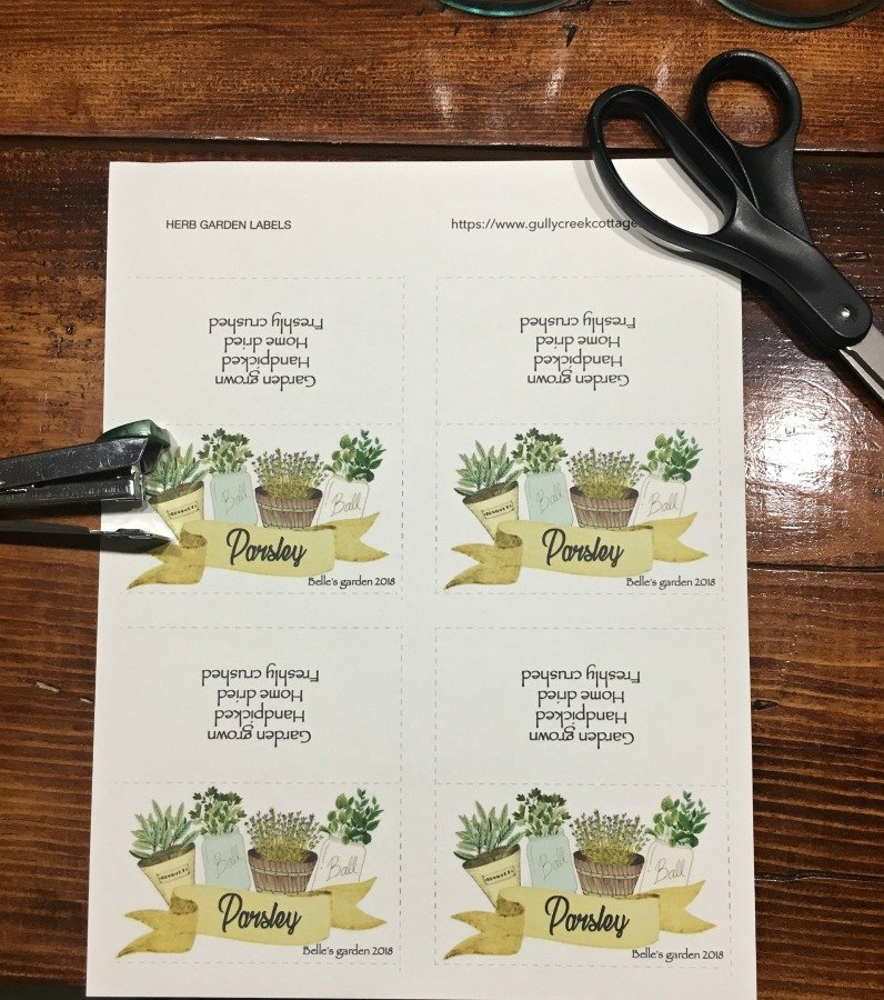 Fresh HERBS: what when how-gullycreekcottage-tags