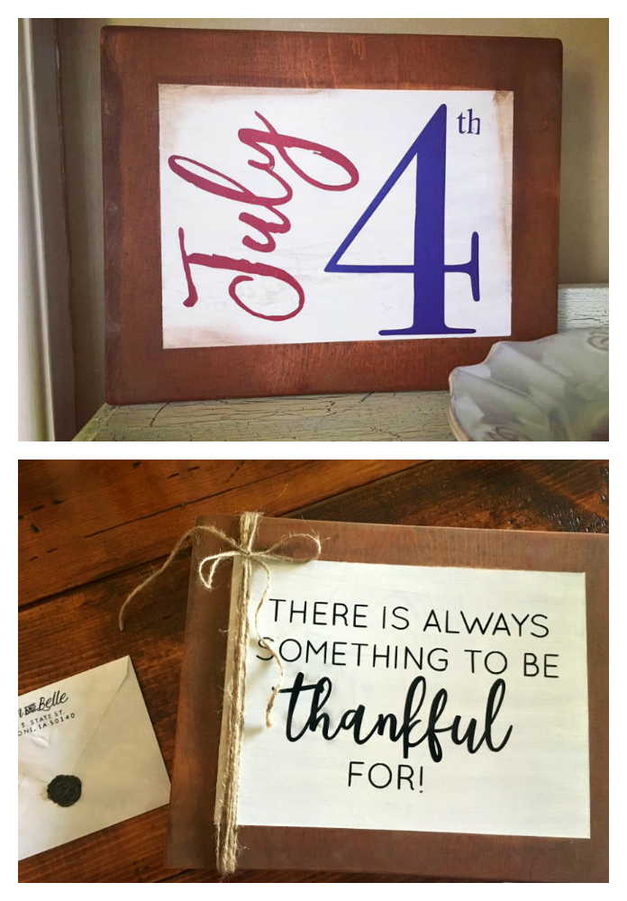 Easy paint craft ideas-gullycreekcottage-signs