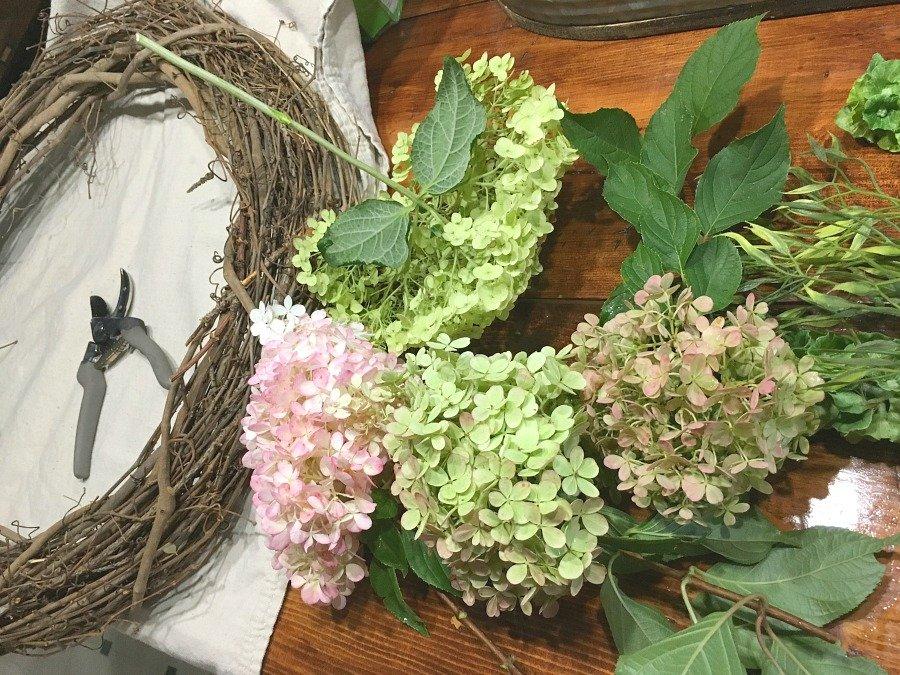 Fresh Hydrangea Door Wreath-gcc-supplies