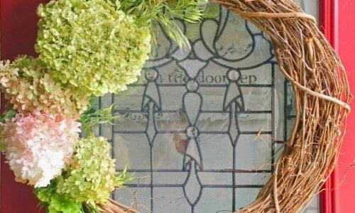 Fresh Hydrangea Door Wreath
